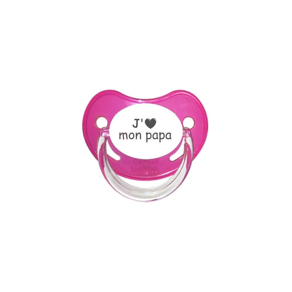 Tétine coeur J'aime mon papa