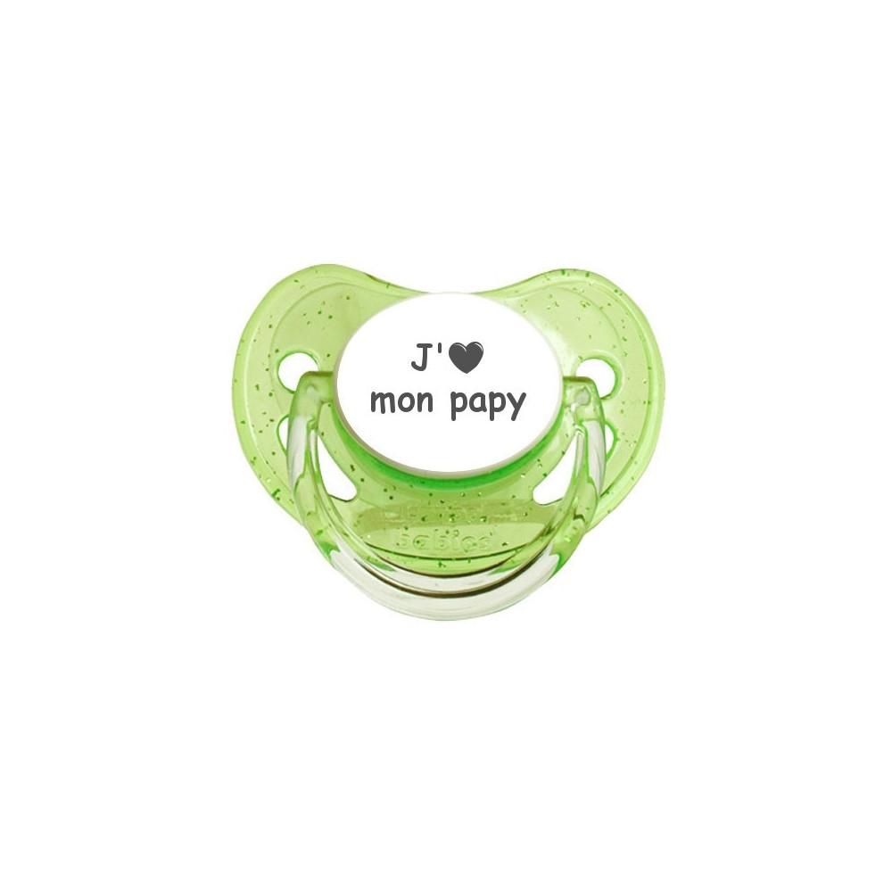 Tétine coeur J'aime mon papy