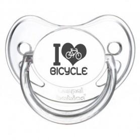 Tétine bébé I love bicycle
