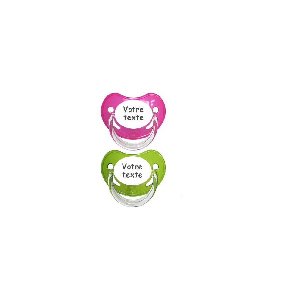 Tétines personnalisées Chupa (rose,vert)