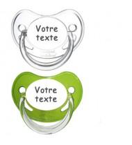 Tétines personnalisées Chupa (vert, transparent)