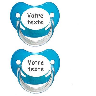 Tétines personnalisées Chupa garçon (bleu)