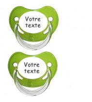 Tétines personnalisées Chupa (vert)