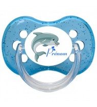 Tétine personnalisée dauphin et prénom