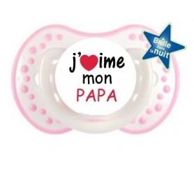 "Tétine personnalisée ""J'aime mon papa"""