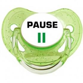 Tétine personnalisée Pause