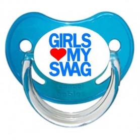 Tétine personnalisée Girls aime my swag