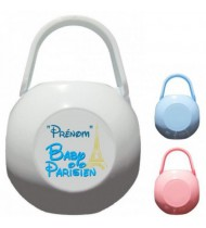 Boîte à tétine personnalisée Baby Parisien Prénom