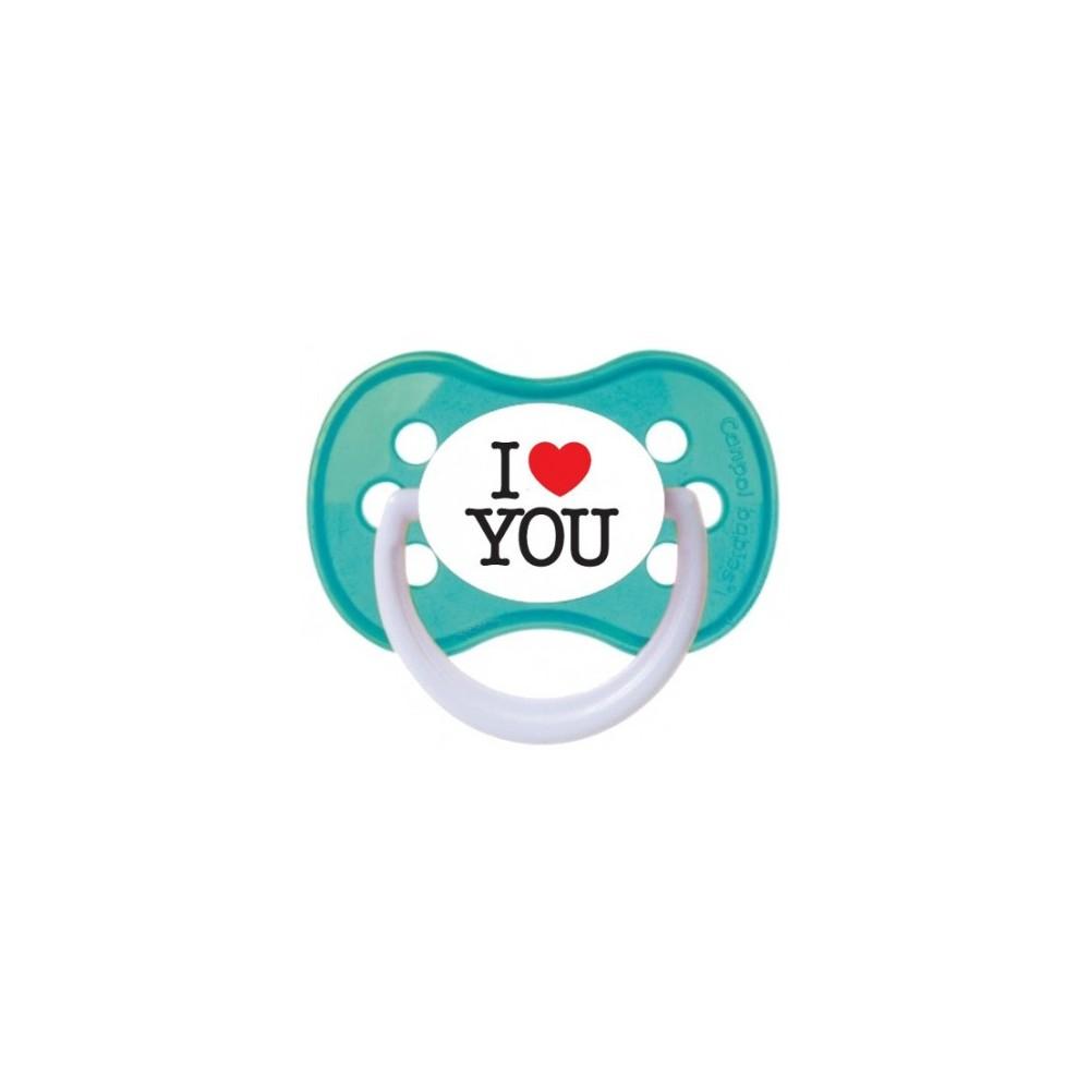 Tétine personnalisée I love you