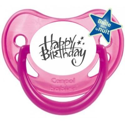 Tétine bébé happy birthday