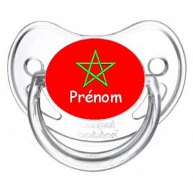Tétine personnalisée drapeau Maroc et prénom