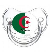 Tétine personnalisée drapeau Algérie et prénom