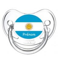 Tétine personnalisée drapeau Argentine et prénom