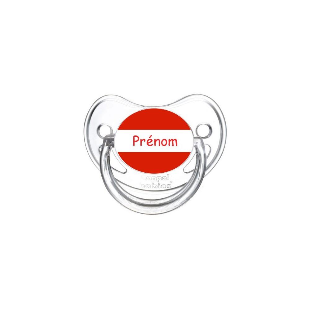 Tétine personnalisée drapeau Autriche et prénom