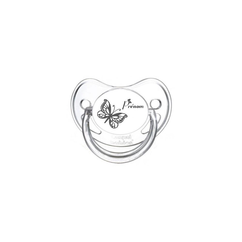 Tétine personnalisée papillon 2 prénom