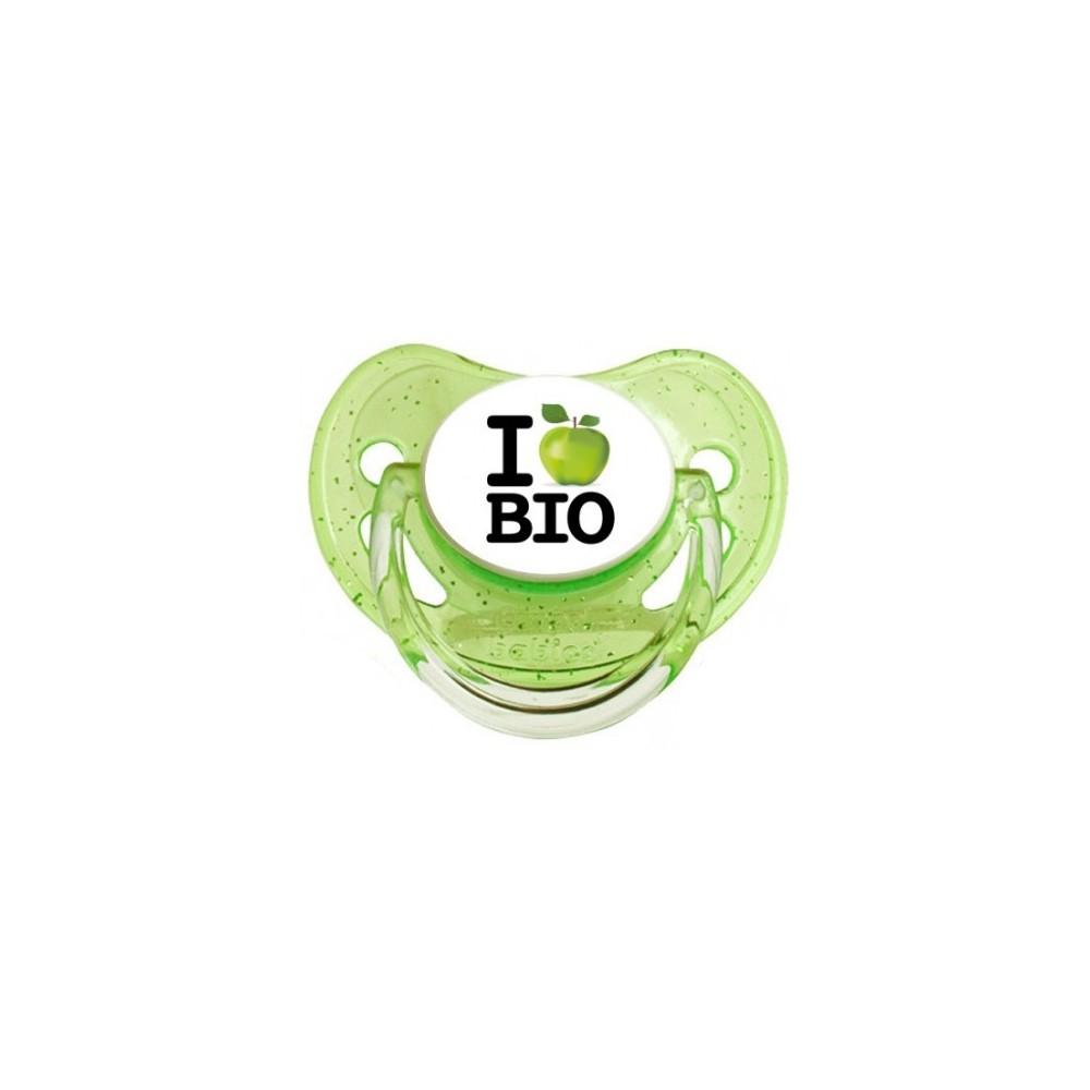"""Tétine bébé """"I love bio"""""""