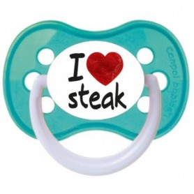 "Tétine bébé ""I love steak"""