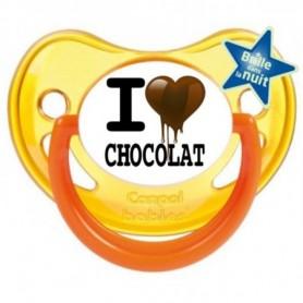 "Tétine bébé ""I love chocolat"""
