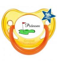 Tétine personnalisée Golf et Prénom