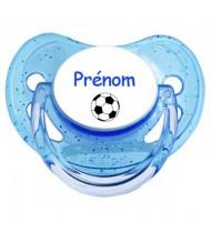 Tétine personnalisée Ballon foot et Prénom