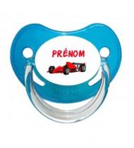 Tétine personnalisée Formule 1 et Prénom