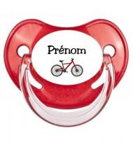 Tétine personnalisée Vélo et Prénom