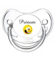 Tétine personnalisée volley ballon et Prénom
