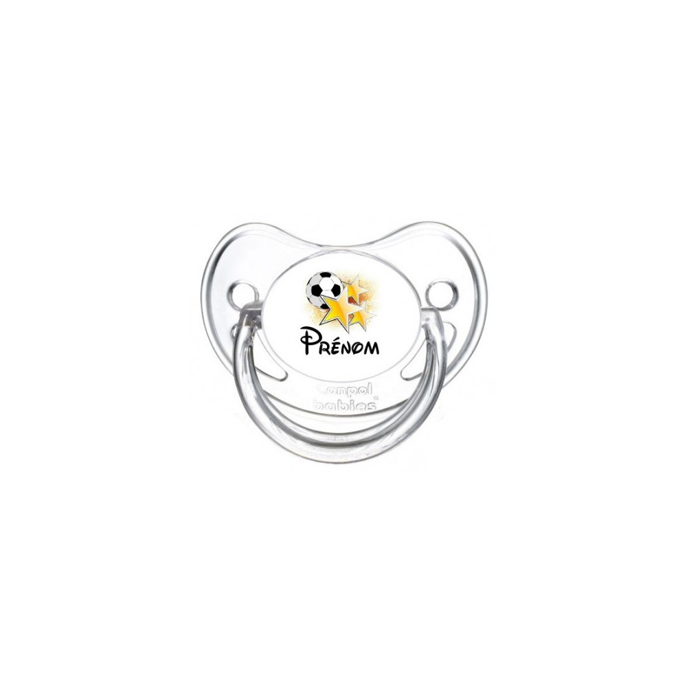 Tétine personnalisée foot etoile et Prénom