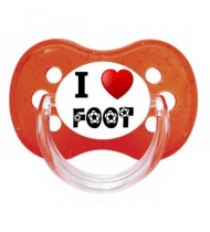 Tétine personnalisée I love foot humour