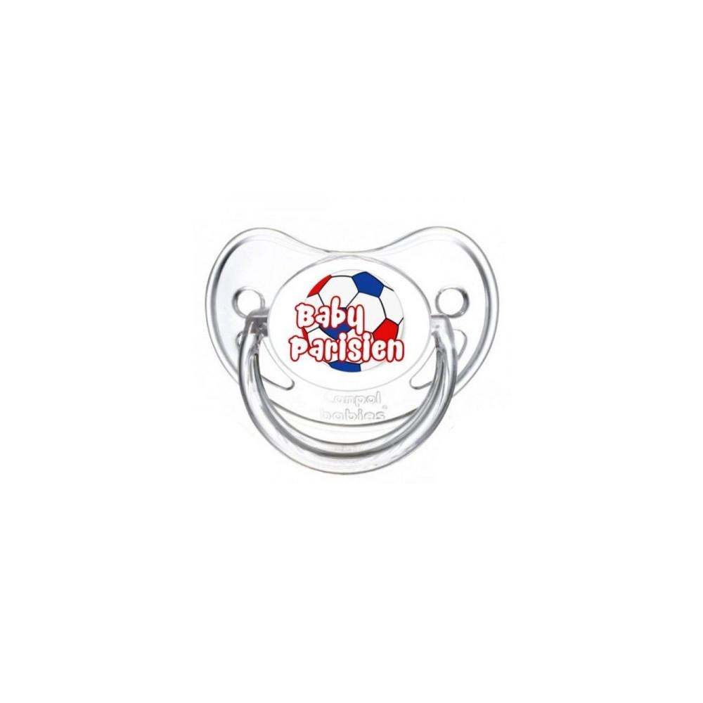 Tétine personnalisée baby parisien ballon