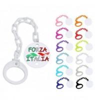 Attache tétine personnalisée Forza Italia