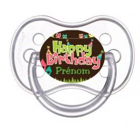 Tétine personnalisée happy birthday
