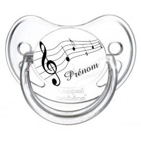 Tétine personnalisée musique et prénom