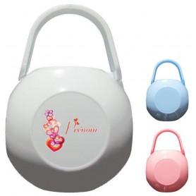 Boîte à tétine personnalisée Coeurs Prénom