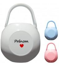 Boîte à tétine personnalisée Coeur Prénom