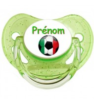 Tétine personnalisée Ballon foot Italie et prénom