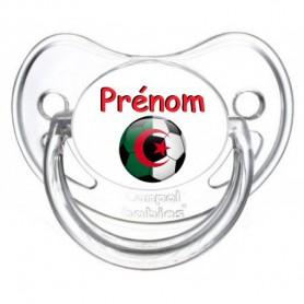 Tétine personnalisée Ballon foot Algérie et prénom