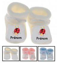 Chaussons bébé Cocinnelle prénom personnalisés