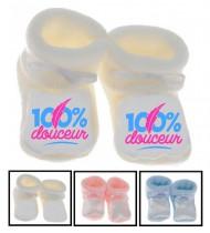 Chaussons bébé 100% Douceur