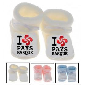 Chaussons bébé I love Pays basque