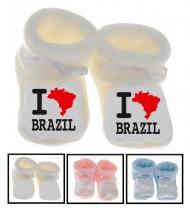 Chaussons bébé I love Brazil