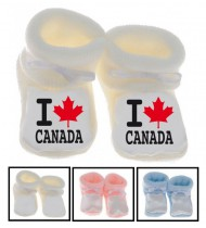 Chaussons bébé I love Canada