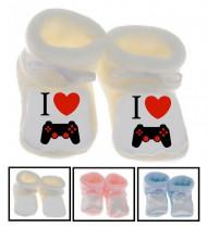 Chaussons bébé I love gamer