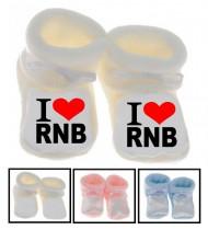 Chaussons bébé I love RNB