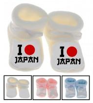 Chaussons bébé I love Japon