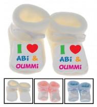Chaussons bébé I love Abi & Oummi