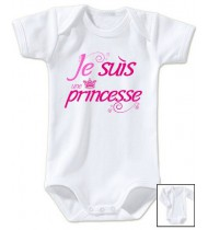 Body bébé Je suis une princesse