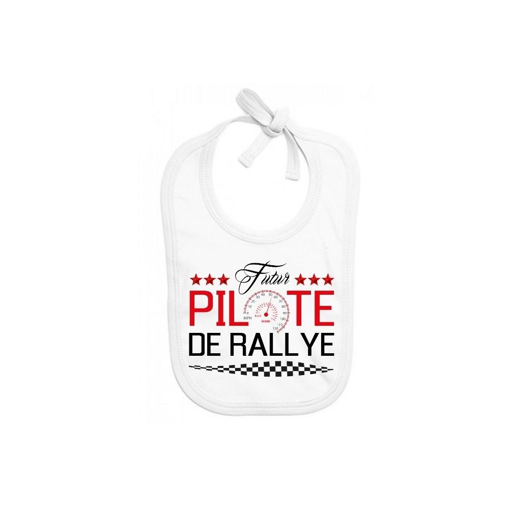 Bavoir bébé Futur pilote de rallye
