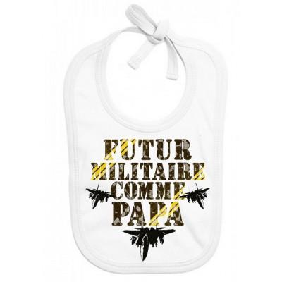 Bavoir bébé Futur militaire comme papa