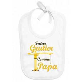 Bavoir bébé Futur grutier comme papa